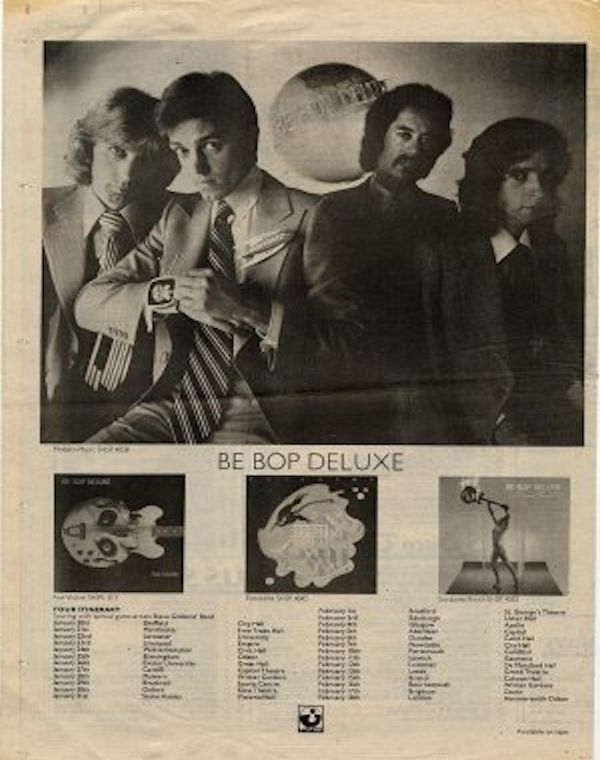 Image 1 - Be-Bop Deluxe UK Tour advert 1977