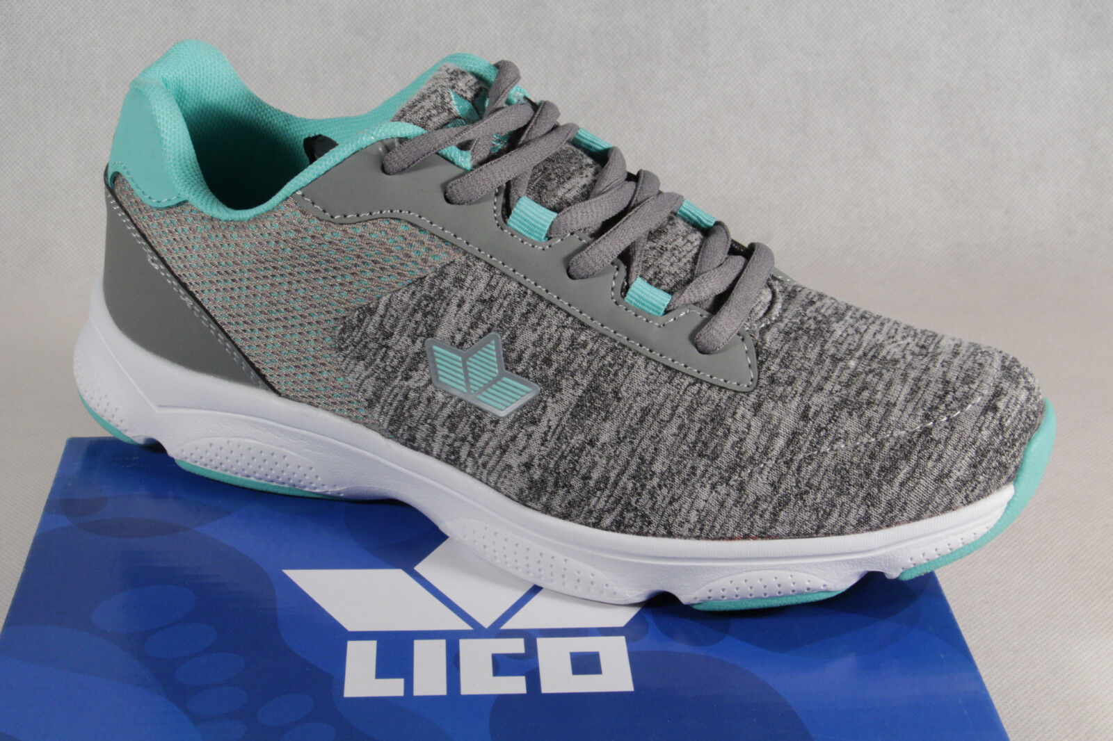 Lico Lace up Trainers Sports shoes Low shoes Trainers Grey Green New
