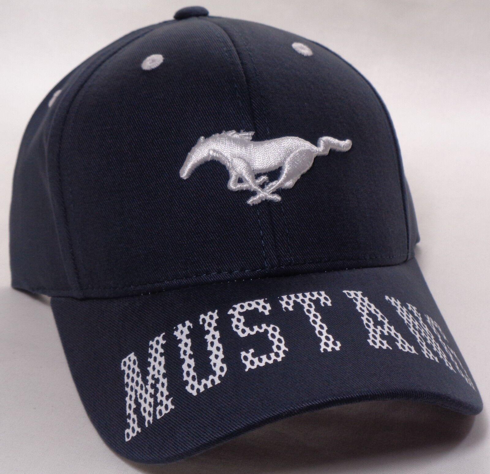 Hat Cap Bill Ford Mustang Bill Cap Lettering Blue CF b82d20 ... b6a2ec57cf18