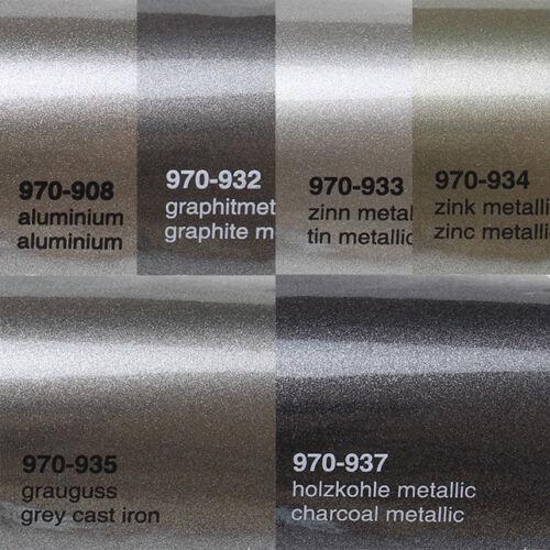 18,41€//m² Oracal 970RA Autofolie gegossen Rapid Air Folie Matt Glanz 0,5m x1,52m