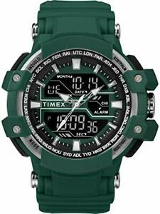 Timex-Men-039-s-TW5M22800-Tactic-Big-Combo-53mm-Marine-Green-Gray-Resin-Strap-Watch