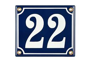 Hausnummer-Hausnummernschild-Emaille-12x14-cm-mit-Wunschnummer-Premiumqualitaet