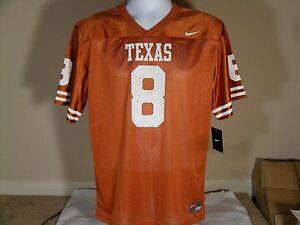 quality design b183b bf20f Details about New Youth Kids Nike Texas Longhorns UT Mesh Football Jersey  #8 Orange $50