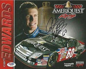 Carl Edwards Signed 2006 Ameriquest Photocard - PSA/DNA # Y09327