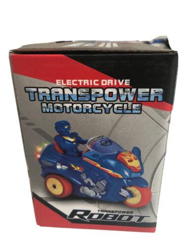 Transpower MOTORCYCLE MOTORE ELETTRICO GIOCATTOLO PER BAMBINI GIOCO Transformer NUOVO 3+