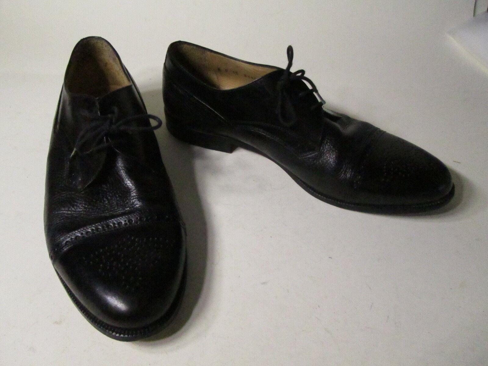 EUC  Men's Johnston & Murphy Cellini Black Leather Oxford Dress shoes sz 12 M