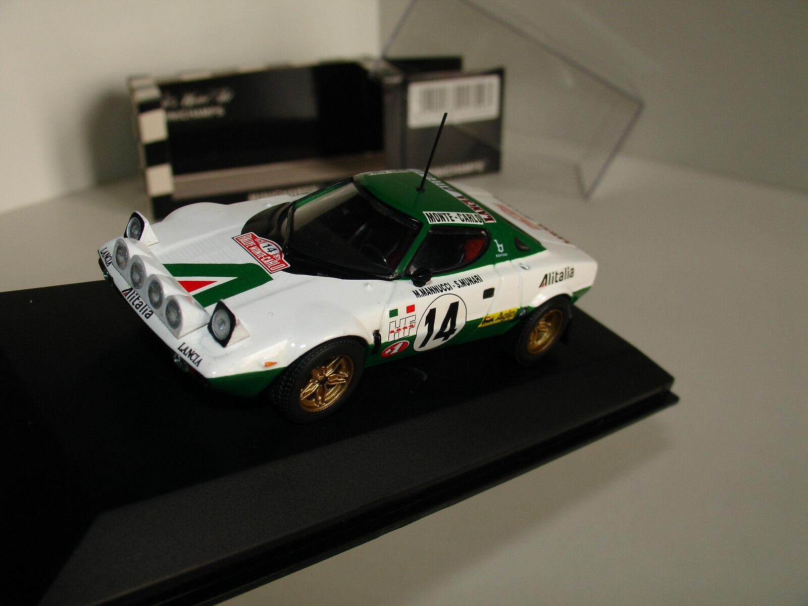 contador genuino 1 43 Lancia Stratos  14  Alitalia  1st 1st 1st MonteCochelo 1975 S. Munari por Minichamps  grandes ofertas