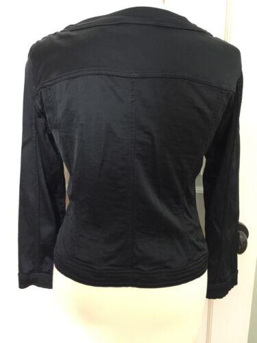 uni à Piazza Veste Sempione mélangé noir 46 noir longues coton boutonnée Z287 en manches qttvxrwf