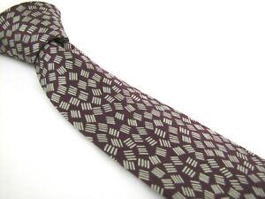 CHARVET-Tie-Burgundy-Random-Dashes-Print-Silk-Twill-Necktie-Sparks-Joy
