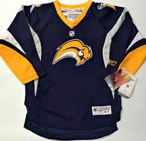 finest selection 7753c 16ff0 Details about BRAND NEW TAGS RETRO BUFFALO SABRES 4-7T TODDLER/BOY NHL  LISENCED REEBOK JERSEY
