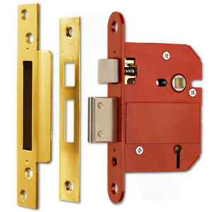 ERA-Fortress-362-31-BS-5-Lever-Sashlock-76mm-3-034-Brass-Effect-Mortice-Door-Lock