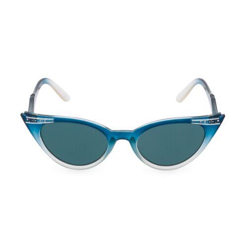 50 S style vintage Betty Graduated Blue Crystal Cat Eye Lunettes de soleil