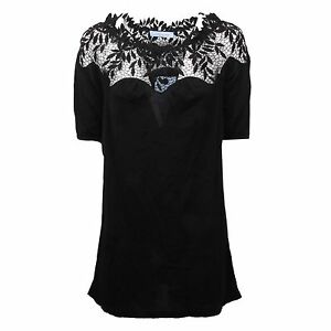 Pizzo T C4356 Details Shirt Maglia About Woman Blumarine Donna Nero qXHR0xwH