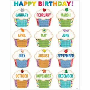 Image Is Loading Upcycle Style Happy Birthday Chart Creative Teaching Press