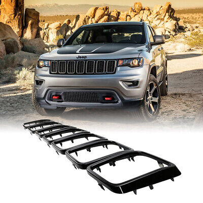 XBEEK 7PC Front Grill Mesh Honeycomb Insert Gloss Black Ring Grille Inserts for 2019-2020 Jeep Cherokee