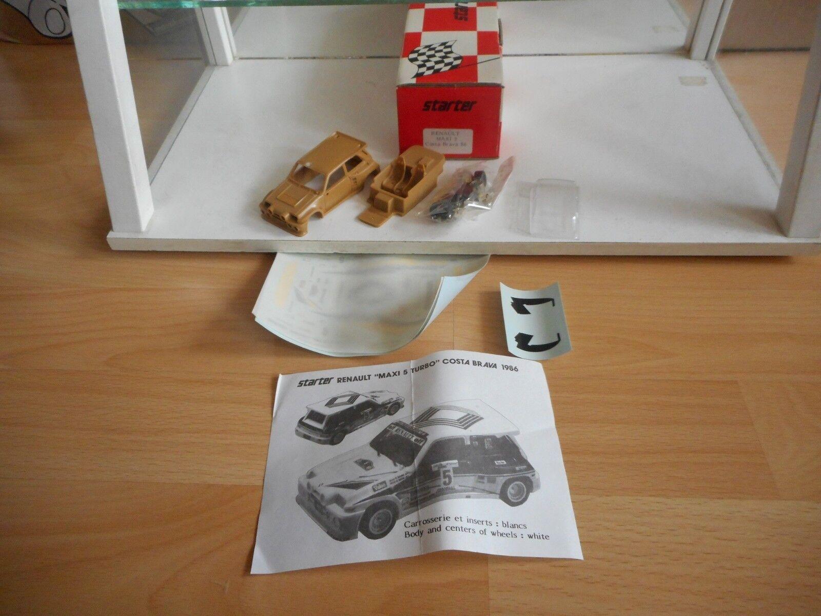 Resin Modelkit Starter Renault Maxi 5 Costa Brava 86 on 1 43 in Box