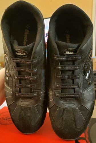 SKECHERS WOMENS Sneakers BIKERS VEXED BLK ATHLETIC