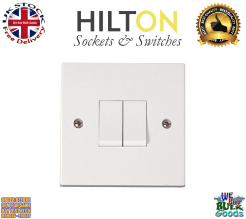 HILTON Light Switch White Plastic 1Gang 1Way Light 10Amp ***Best Quality***