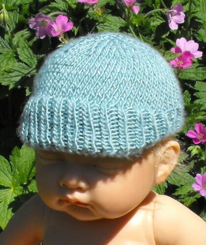 PRINTED INSTRUCTIONS BABY SILK SUNDAY BEANIE CAP PEAK HAT KNITTING PATTERN