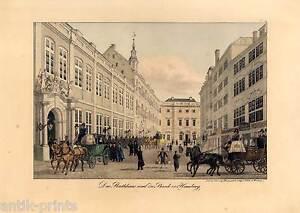 Hamburg-Rathaus-Lithographie-Peter-Suhr-um-1832