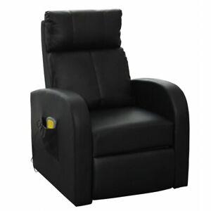 Fauteuil de massage confort relaxant massage chauffage massant détente noir Hel