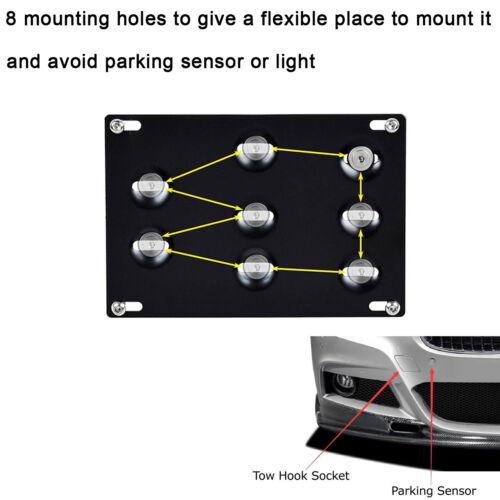 Tow Hook License Plate Bumper Mount Bracket For Mercedes C E S M GLA GLK Class
