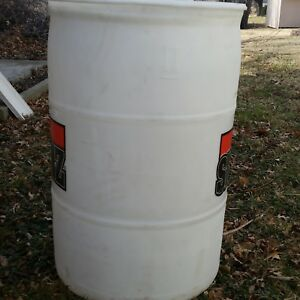 Image Is Loading 55 Gallon Drum White Hdpe Plastic Barrel