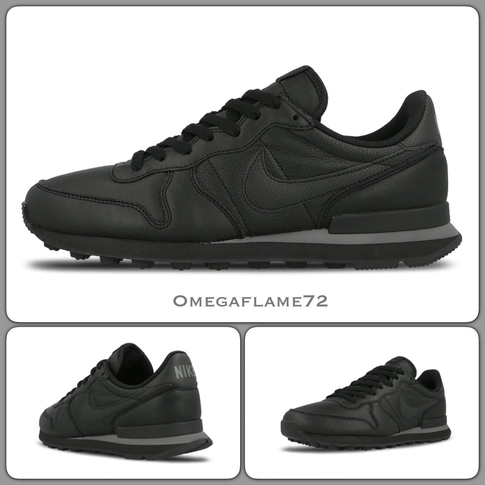 Nike Internationalist, Leather 631754-013 US 8, Black Leather Internationalist, 2a9410