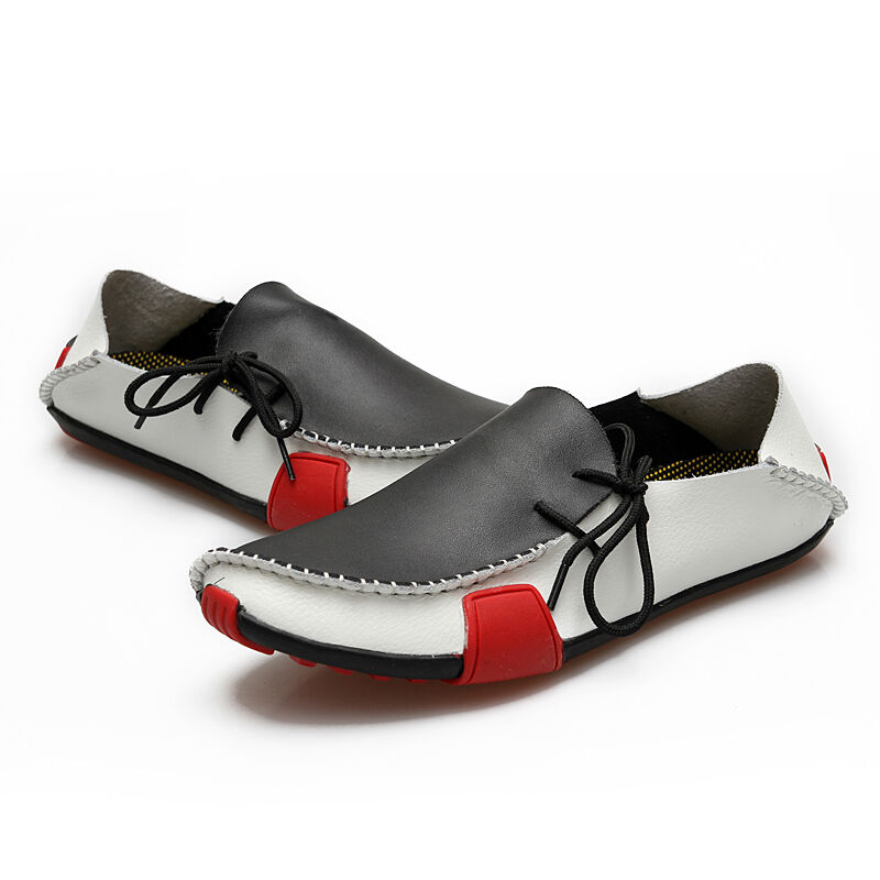 Driving Flats Moccasins Shoes Mens Casual Cowhide Moccasins Flats Slip On Loafers Shoes 53132e