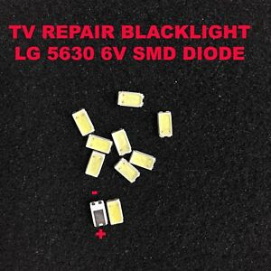 TV Backlight LED Diode SMD 5630 3V Samsung Vizio LG RCA Lamp Beads Strip 20PCS