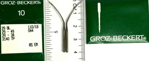 GROZ-BECKERT 29BL 29-49 2140TP  S=110//18 CURVED INDUSTRIAL SEWING MACHINE NEEDLE