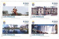 Chile 2014 #2512-15 Cuidades de Chile 275 Años Los Angeles MNH