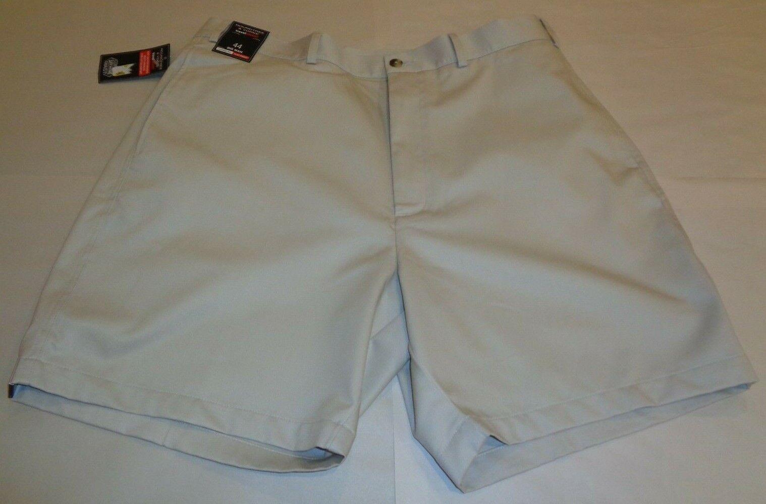 Roundtree & Yorke Size 46 Waist ELASTIC WAIST String Flat Front New Mens Shorts