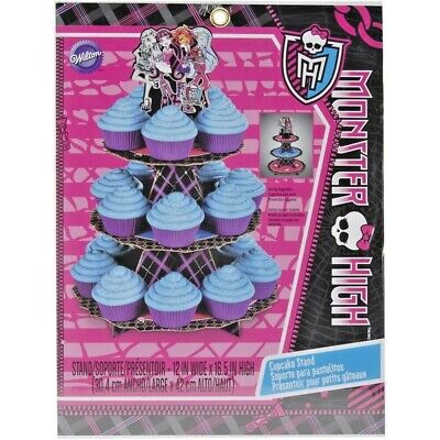 Miraculous Wilton Monster High Cupcake Treat Stand 3 Tier Holder Birthday Personalised Birthday Cards Veneteletsinfo