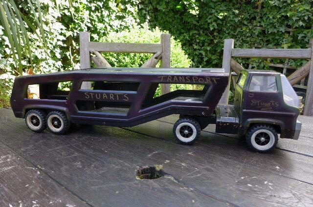 Vintage Tonka Camión Remolque Portador De Coche Retro Casa Decoración Niños Playroom Shop