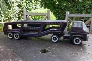 Vintage Tonka Truck Car Carrier Trailer Retro Home ...