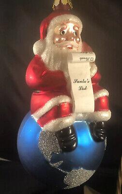 Santa's Best City of Hope Santa's List Glass Christmas ...