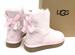 4bf4ff2bd1b Details about Ugg Australia Mini Bailey Bow II Metallic Seashell Pink  Womens 1019032 Sheepskin