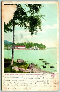 Postcard-Laconia-New-Hampshire-Endicott-Rock-Lake-Winnipesaukee-1908-Posted