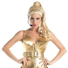 90s Diva Wig with Headset Adult Womens Madonna Costume Accessory Fancy Dress