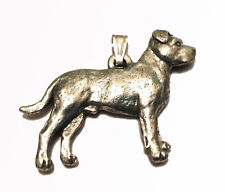 uncropped ears Boxer Pendant Dog Harris Fine Pewter Made in USA jewelry