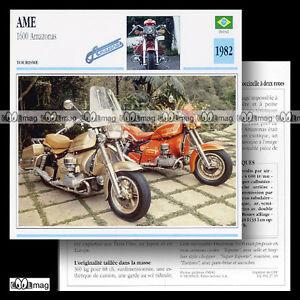 027-15-AME-1600-AMAZONAS-1982-Fiche-Moto-1980-039-s-Custom-Motorcycle-Card