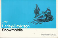 Harley Snowmobile 1972 Owner's Manual