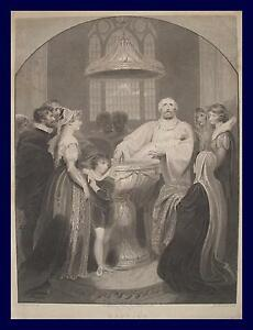 Details Zu Richard Westall Taufe Taufbecken Baptism Pfarrer Priester Baptisten Weihwasser