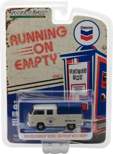 GREENLIGHT 1:64 RUNNING ON EMPTY VOLKSWAGEN VW CHEVRON SET OF 6 SERIES 2 41020E