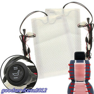 Round Switch 12v US Seats Carbon Fiber Heated Seat Heater Kit Car Cushion