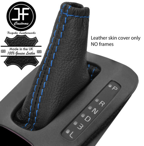 BLUE STITCH TOP GRAIN LEATHER AUTOMATIC SHIFT BOOT FITS VOLVO V70 S70 98-00