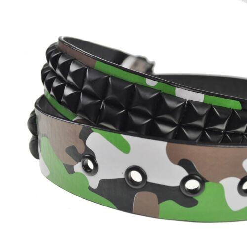 Unisex Stylish Studded Camouflage Belt