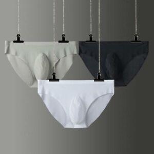 Homme-Sous-vetements-Briefs-hommes-Cool-Ice-soie-transparente-Soft-Sexy-Male-Homme-Calecon