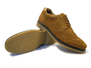 Mens-Suede-Shoes-Tan-Leather-Brogues-Lace-Up-Solea-Kurt-Geiger-Size-7-or-7-5-NEW